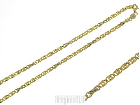 Catene Mancini oro: Catena oro 18 carati da uomo