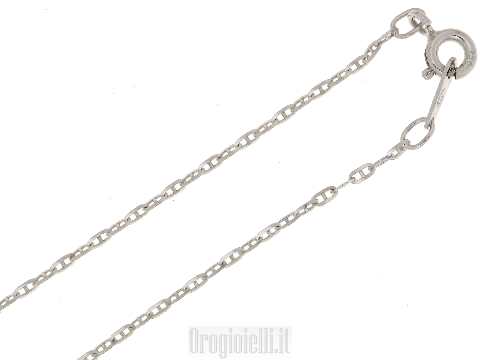 Chain for pendants in white gold 18k
