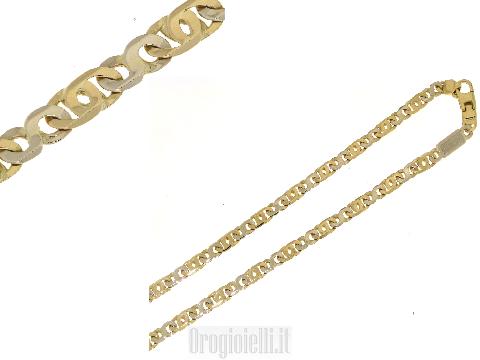 Catena uomo bicolore in oro 18kt