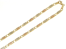 Gold Jewells: Empty tri-color 18k gold chain