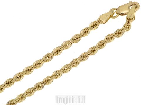 Catenina a fune in oro giallo 18 carati