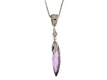 Catenina con brillante e pietra viola