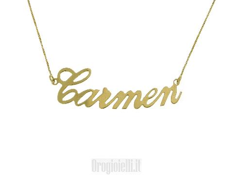 Catenina con nome CARMEN in oro 18K