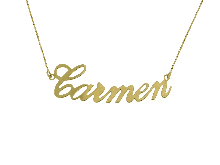 Gold Jewells: CARMEN Name Necklace in 18K Gold