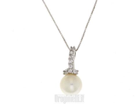 Catenina con perla centrale in oro per SPOSA