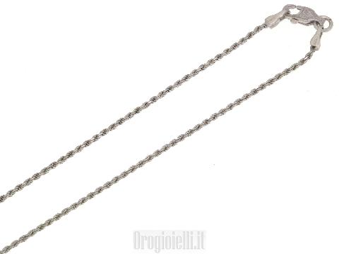 Catenina corda in oro bianco 18kt