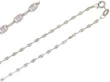 Catenina diamantata in oro bianco