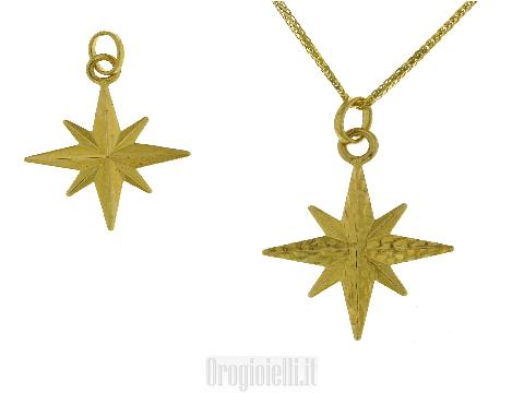 Catenina in oro giallo diamantato 18 kt