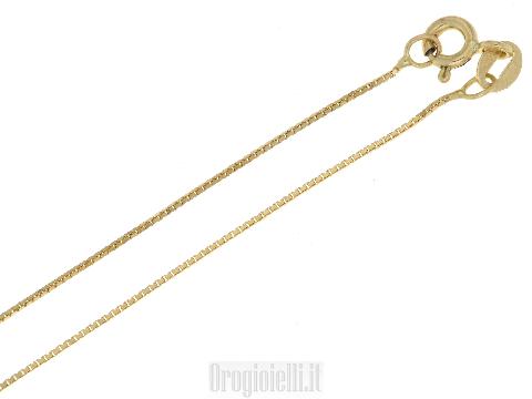 Catenina per ciondoli in oro giallo 18ct