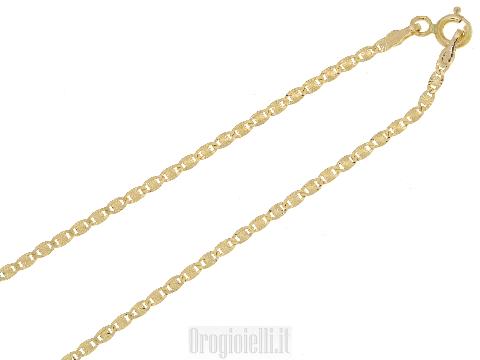 Catenina piatta molto luccicosa in oro