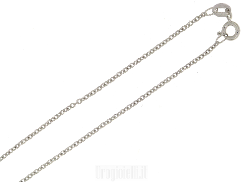 Catenina rolo' sottile in oro bianco