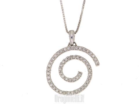 Catenina spirale e diamanti per sposa