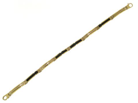 Bracciali uomo oro - Caucciù ed oro giallo