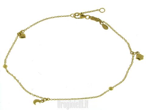 Cavigliera in oro giallo 18 carati