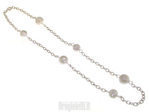Chanel argento 925 con sfere diamantate