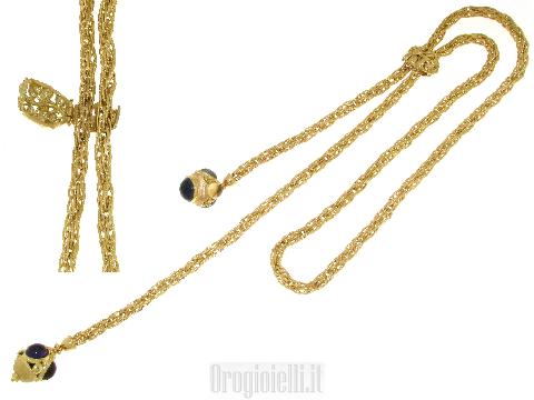 Chanel con pietre colorate in oro 18ct