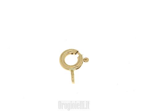 Chiusura anello a molla in oro giallo