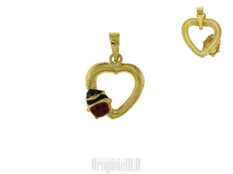 Ciondolino con coccinella  in oro