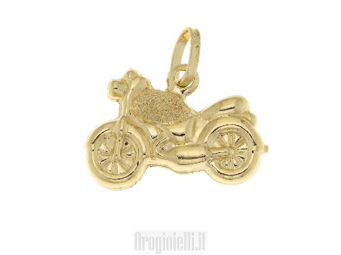Ciondolino motocicletta in oro giallo