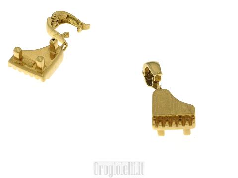 Ciondolo ARTLINEA pianoforte in oro giallo 18 kt