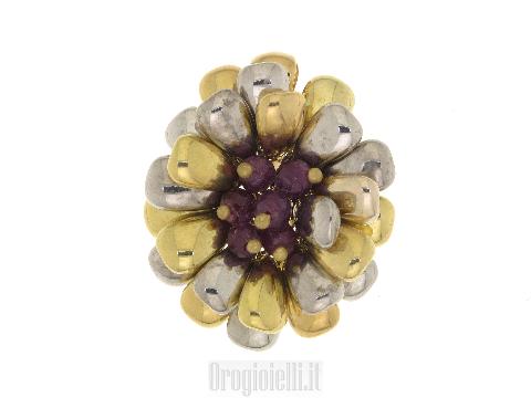 Ciondolo FIORE Artlinea con granato in oro