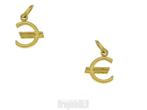 Ciondolo EURO in oro giallo 18 kt