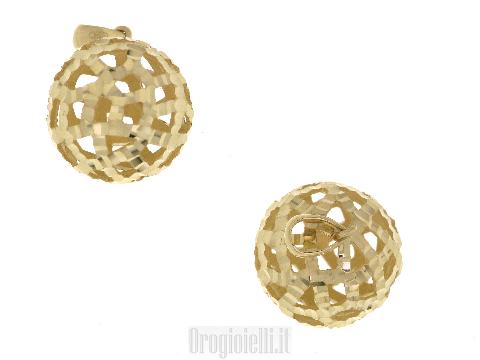Ciondolo  sfera in oro giallo diamantato