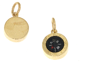 Gold Jewells: Compass pendant in 18k yellow gold