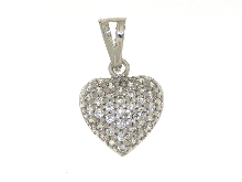 Gold Jewells: Heart pendant with zircon
