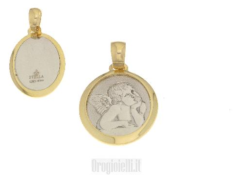Ciondolo con Angelo custode in oro