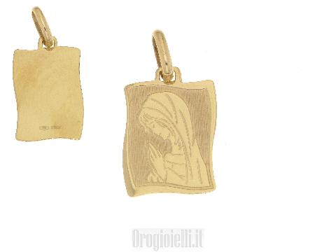 Ciondolo in oro con Madonna pregante