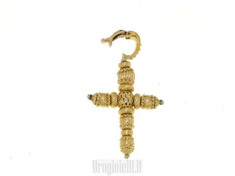 Ciondolo croce in oro 18kt