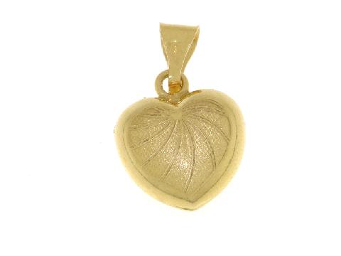 Ciondolo cuore oro giallo 18 carati