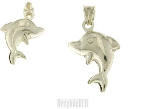 Gioielli artigianali Ciondolo delfino in argento 925