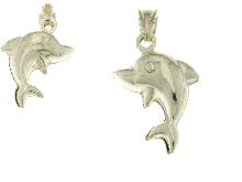 Ciondolo delfino in argento 925