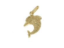Gold Jewells: Dolphin pendant gold 18 ct