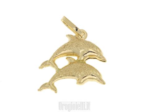 Ciondolo doppio delfino