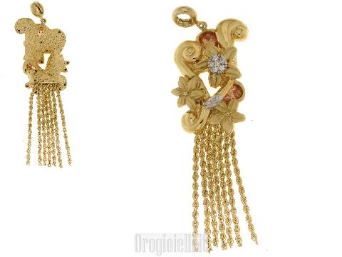Gioielli lusso oro per donne - Ciondolo in oro giallo particolare