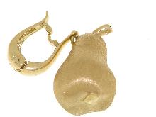 Ciondolo pera in oro giallo 18 kt