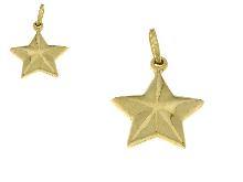 Ciondolo stella in oro giallo 18 carati
