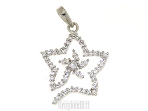 Fantin little star pendant in white gold