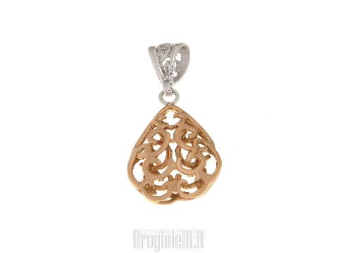Gioielli lusso oro - Ciondolo Goccia in oro rosso 18 kt