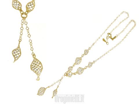 Collana PVZ con ciuffo centrale in oro