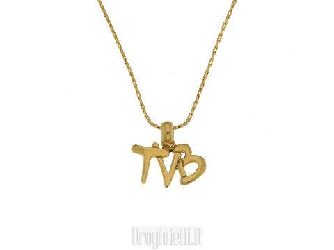 Collana TVB per San Valentino in oro giallo