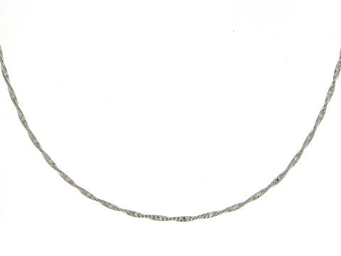 Collana ad elica oro bianco