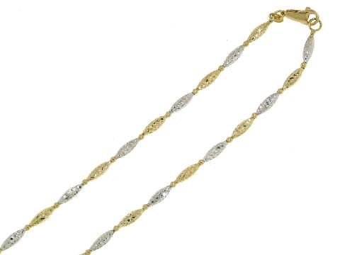 Collana Novello oro bicolore diamantata