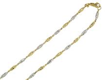 Collana bicolore diamantata