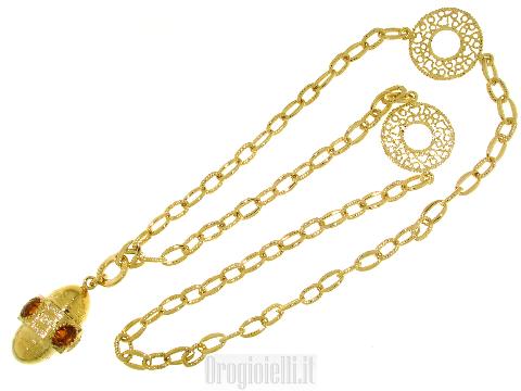 Collana bigiotteria chanel dorata