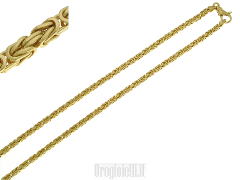 Collana bussiness man oro 14 kt