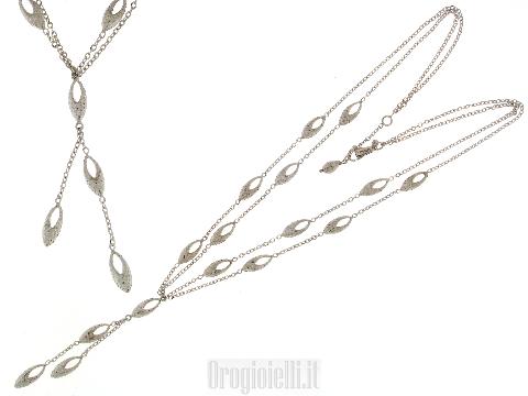 Gioielli per donna alta oreficeria collana oro biancoo